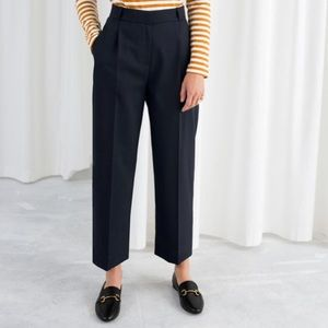 & Other stories, tailored trouser. Dark Navy